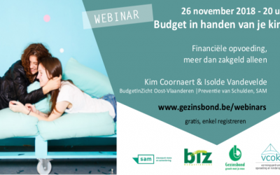 """webinar """"Budget in handen van je kind"""""""